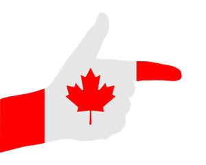Kanadisches Handzeichen