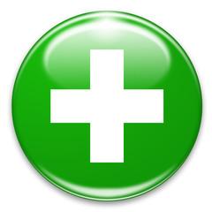 white cross on green