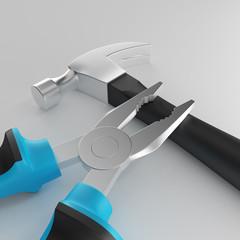 carpentry tools 3D illustration