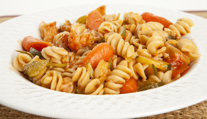 Gourmet Vegetable Pasta with Tomato Sauce