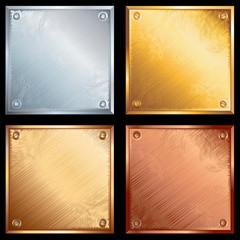 Metal plates set