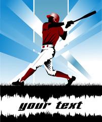 baseball in red