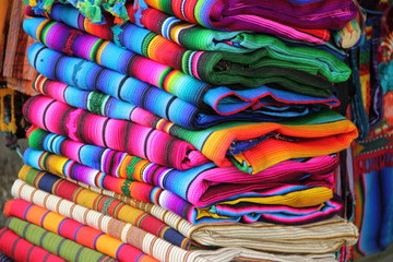 close up image of classic costa rican fabric background