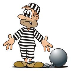 Prisoner chained