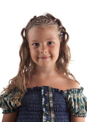 Cute little girl with pigtail hairstyle