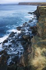 Rocky Coastline on the Big Island, Hawaiian Islands