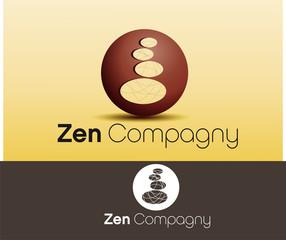 logo vecteur, phère et galet, business zen