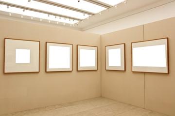 empty exhibition frames