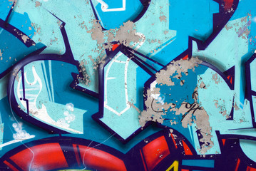 Blue arrows graffiti