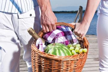 Picknick Ausflug am See