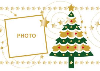 navidad felicitacion christmas dorada