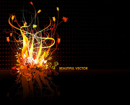 abstract yellow shapes vector illustration
