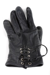 Leather glove on white