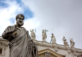 Sculpture of St. Peter in Vatican. Europe
