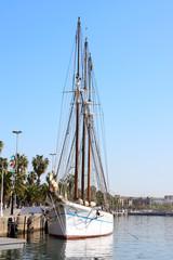 Ship in Barcelona port