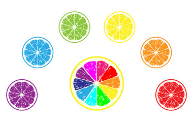 set lemon vector illustration