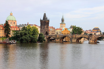 Poster Prague Prague Old Town with the Bridge Tower and Charles Bridge