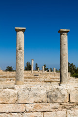 Columns at Sanctuary of Apollon Ylatis, Cyprus