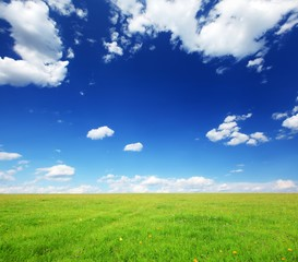 Wall Mural - beautiful landscape with blue sky and white clouds