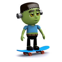 3d Frankenstein the skater