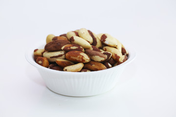Bunch of  Brazil nuts