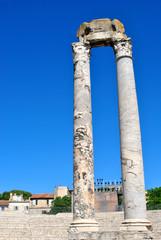 Arles - les colonnes du théatre