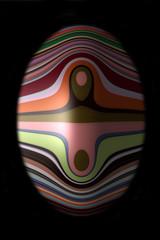 Abstraktes ovales Objekt