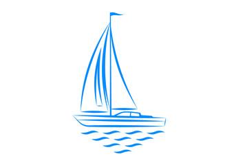 Clip-art of sailboat