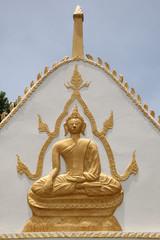 buddha image on archway, Wat Amornburanaram, Ban Phai, Khon Khan