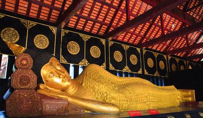 Reclining Buddha from head