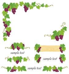 ブドウ ワイン 装飾