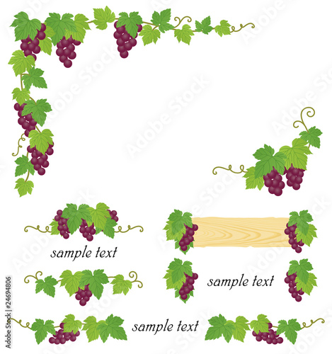 Quot ブドウ ワイン 装飾 Quot Fotolia Com の ストック画像とロイヤリティフリーのベクターファイル Pic