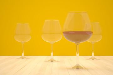 four wineglass