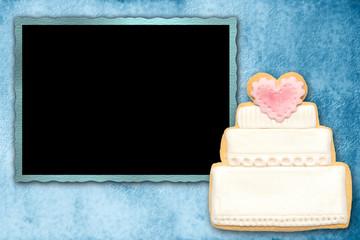 fondo tarjeta vintage tarta de boda
