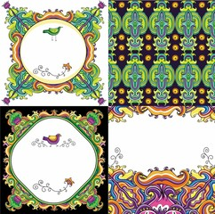 Abstract background set 2 ( floral series)
