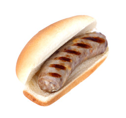 Bratwurst on a Bun