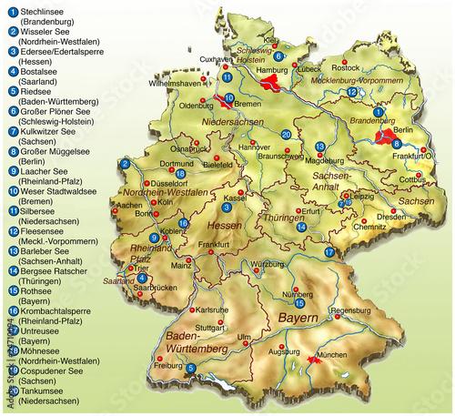 seen in deutschland karte Bade Seen in Deutschland Landkarte