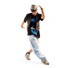 männlicher Tänzer bei einer Drehung