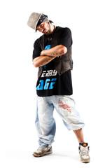 männlicher Tänzer beim posen