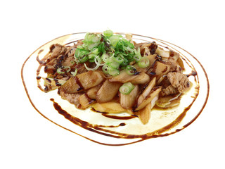 ginger turkey and soy asparagus stir fry
