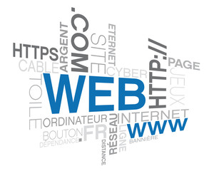 web, mots image sur le thème d'internet