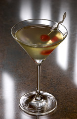 tipperary cocktail with a cherry in a martini glass
