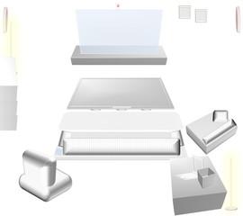 3D Future living room - movement sensor