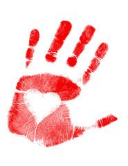 love Hand print / Vector
