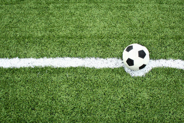 football on kick point line
