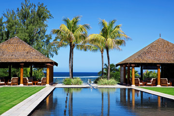 Luxury five star hotel pool