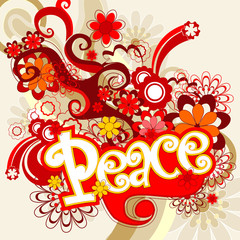 retro peace vector illustration