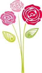 A rose vector bouquet