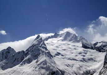 Caucasus Mountains in cloud