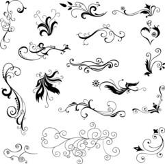 Decorative floral elements for design